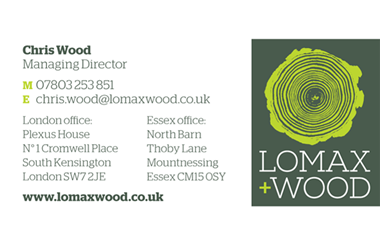 Graphic design - Business card | Lomax+Wood