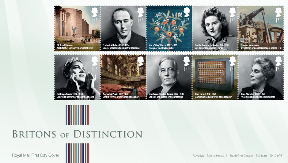 Graphicdesign - Britons of distinction first day cover | Royal Mail
