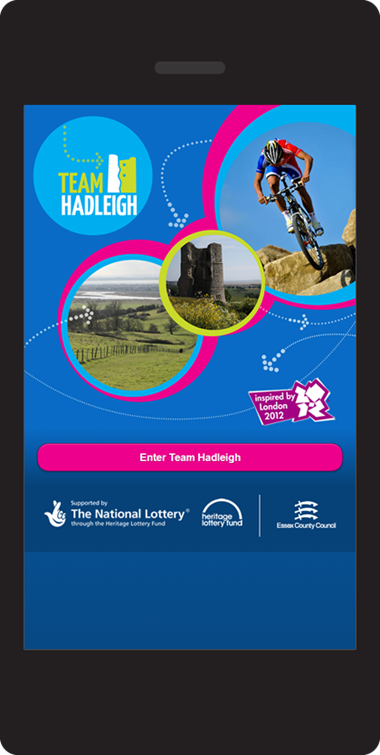 JQuery Mobile website design - Home page | Team Hadleigh