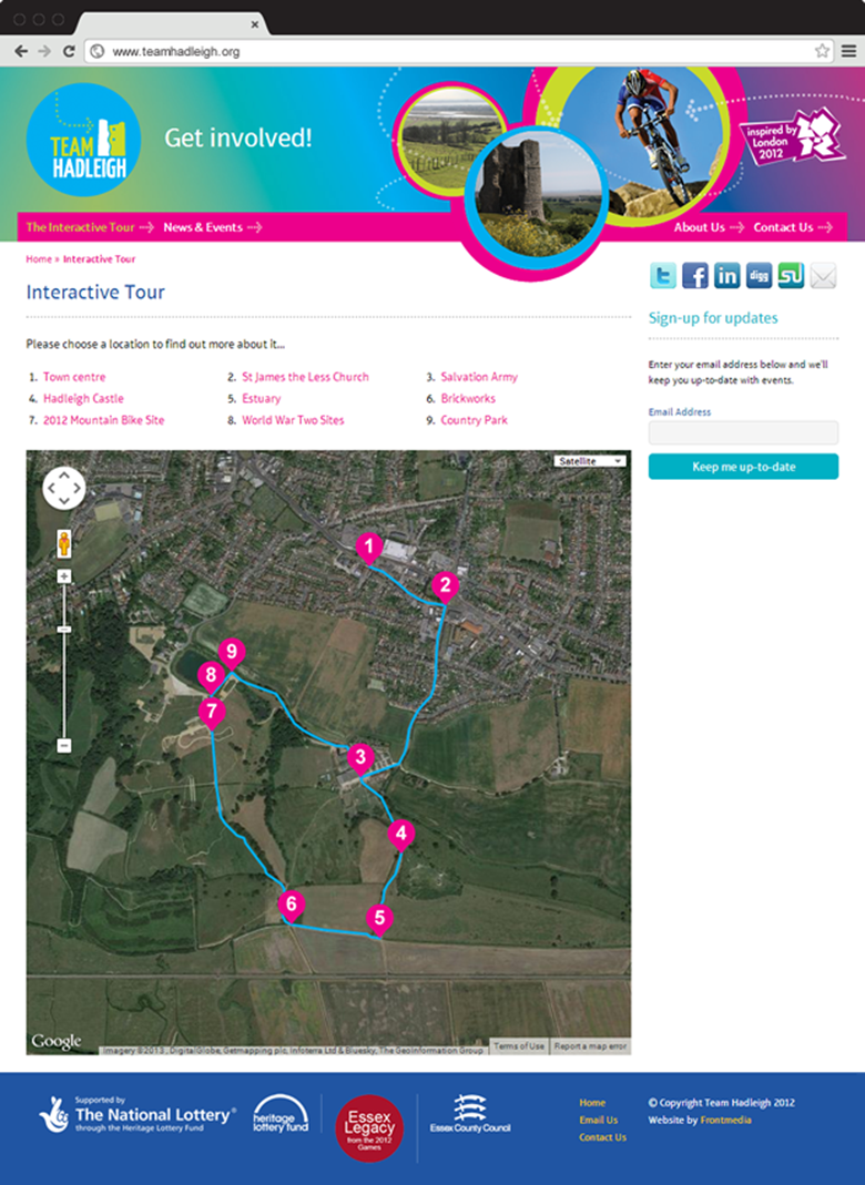 Website design - Interactive map | Team Hadleigh