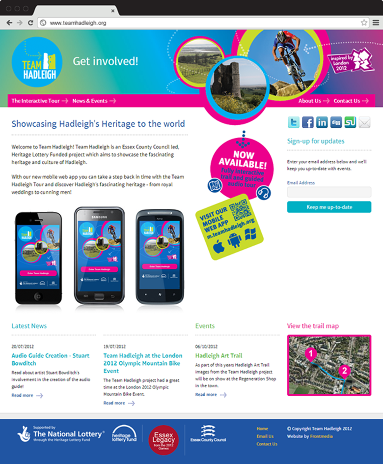 Website design - home page | Team Hadleigh