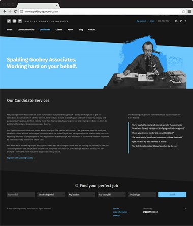 Spalding Goobey responsive website
