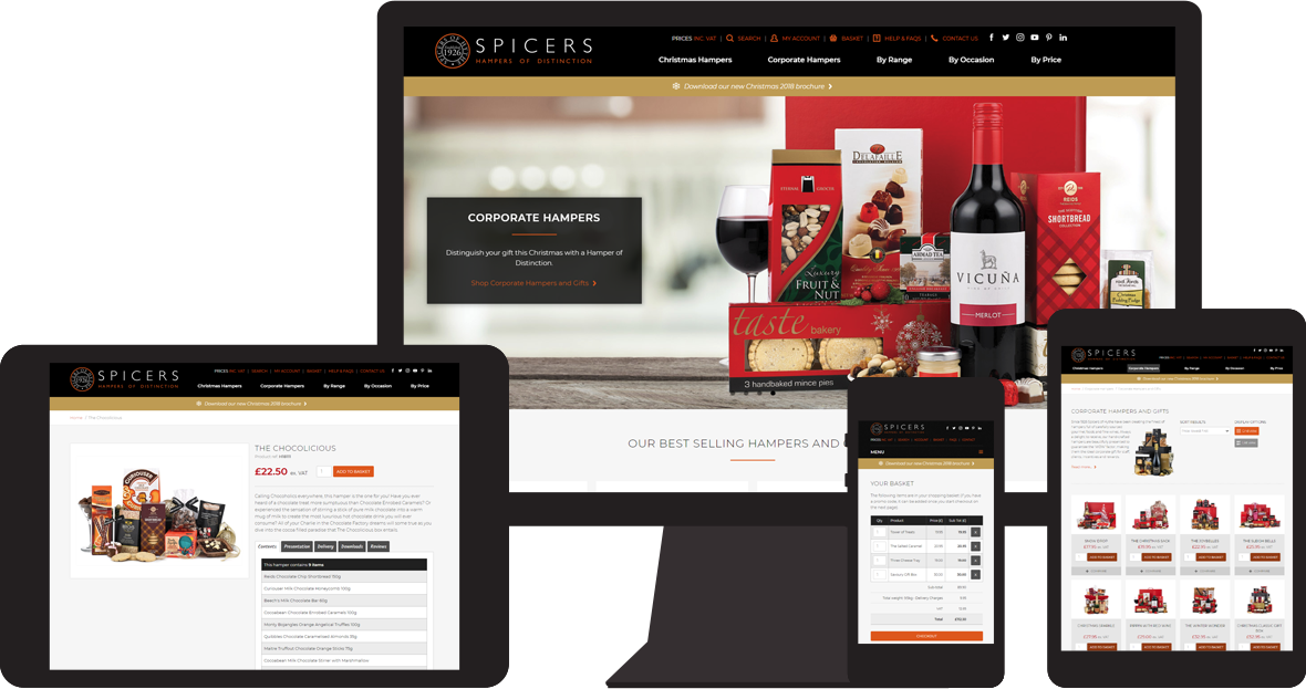 Spicers of Hythe website
