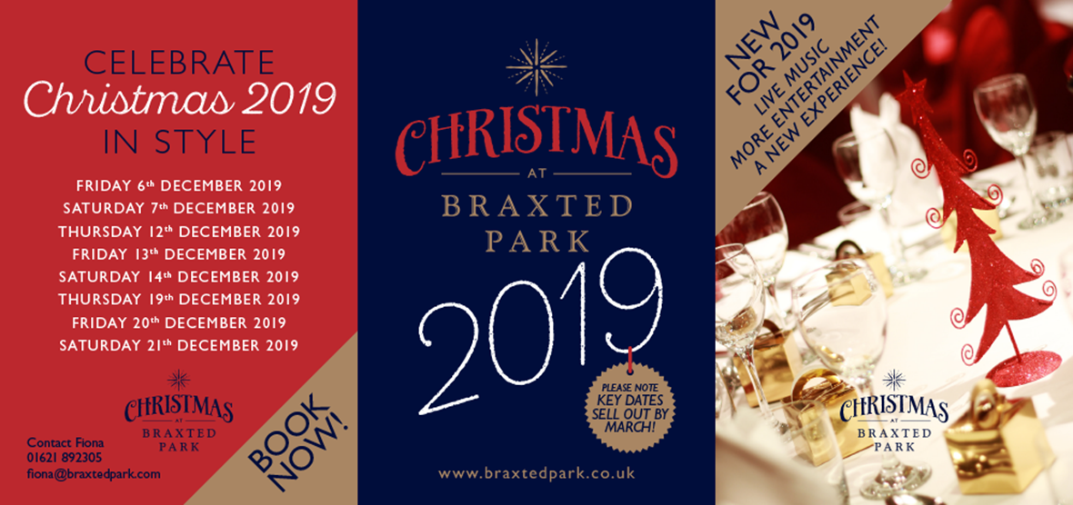 Christmas at Braxted Park table talker