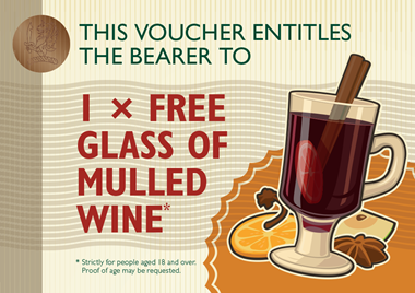 Christmas at Braxted Park mulled wine voucher