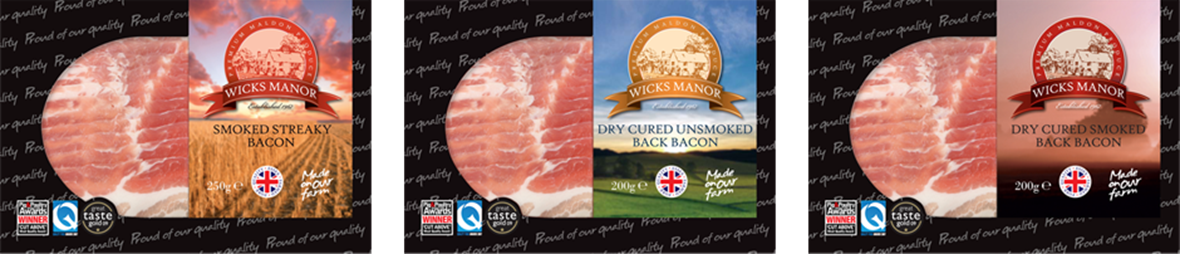 Graphic Design- bacon labels | Wicks Manor