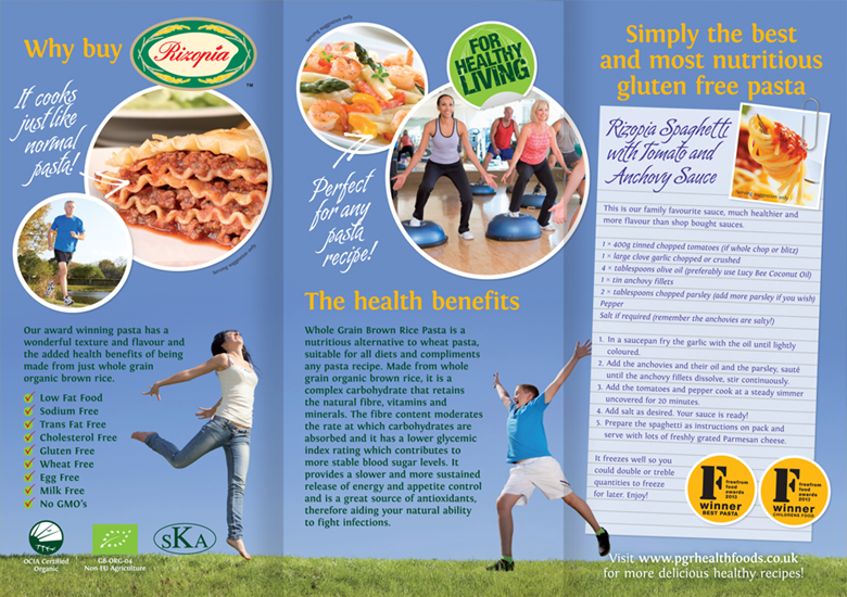 Graphic Design - fitness flyer | PGR Health Foods