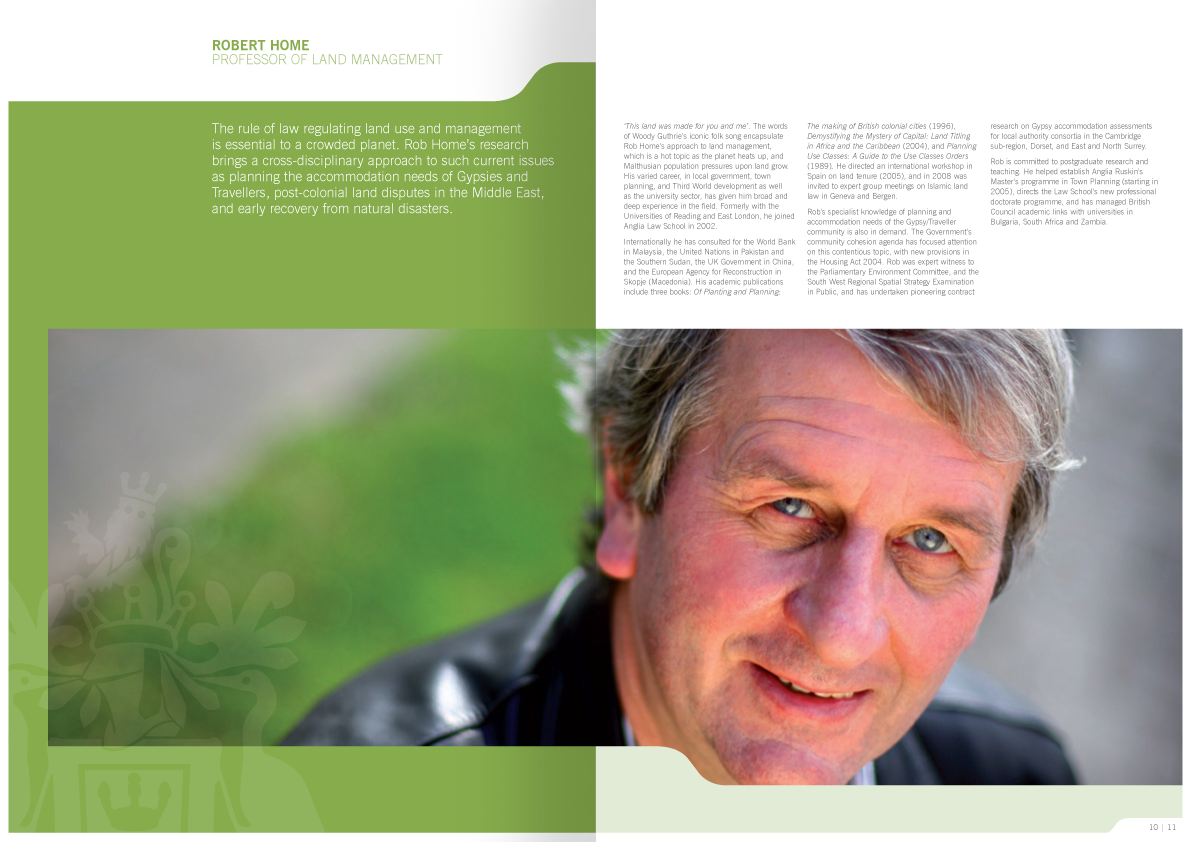 Graphic design - Brochure internal pages 2 | Anglia Ruskin University