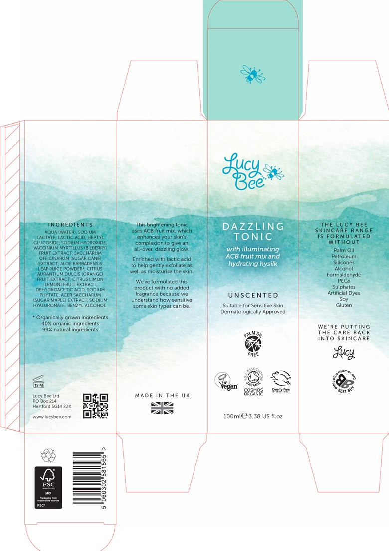 Lucy Bee Skincare Dazzling Tonic packaging