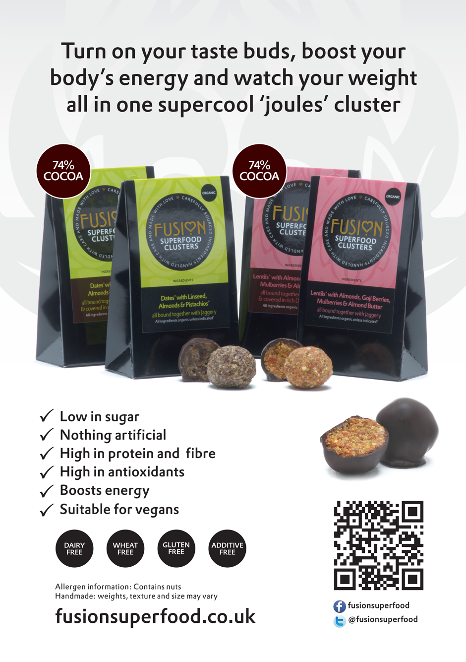Fusion Superfoods promo flyer