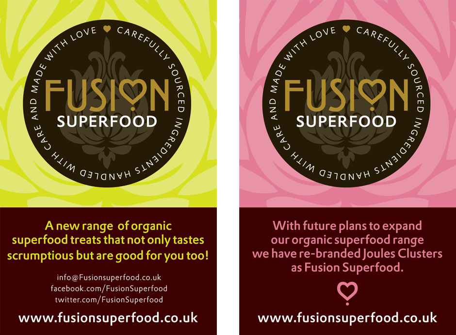 Fusion Superfoods promo cards