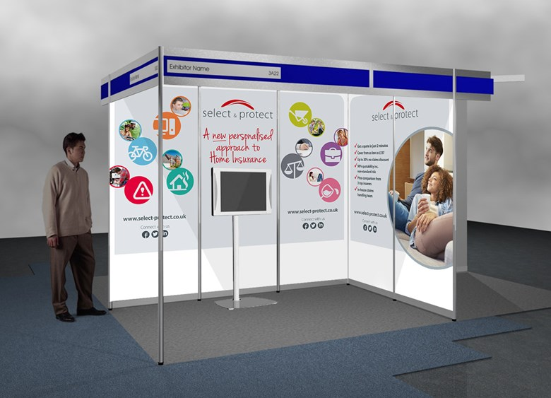 Select & Protect exhibition stand