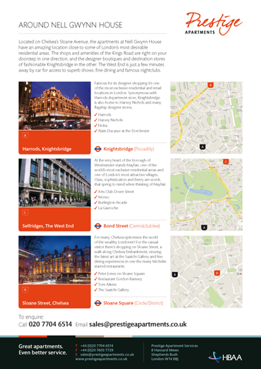 Website design for prestige apartments frontmedia for Apartment web design
