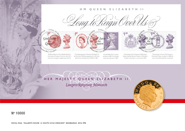 Royal Mail - Long to Reign Over Us - stamp and coin pack