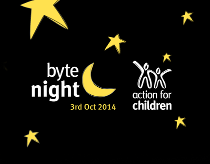 Branding and logo - Action for Children, Byte Night