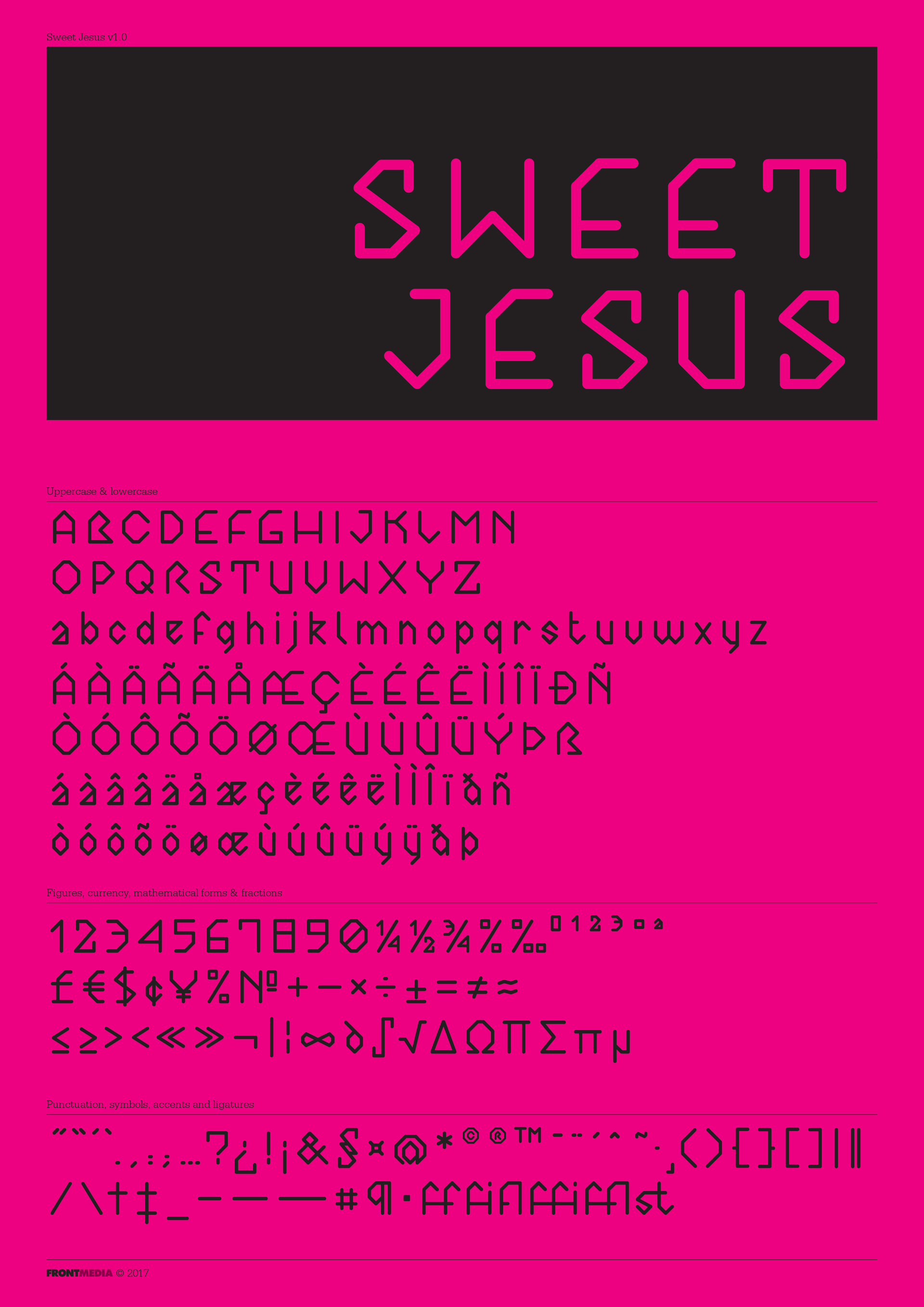 Sweet Jesus font A2 poster